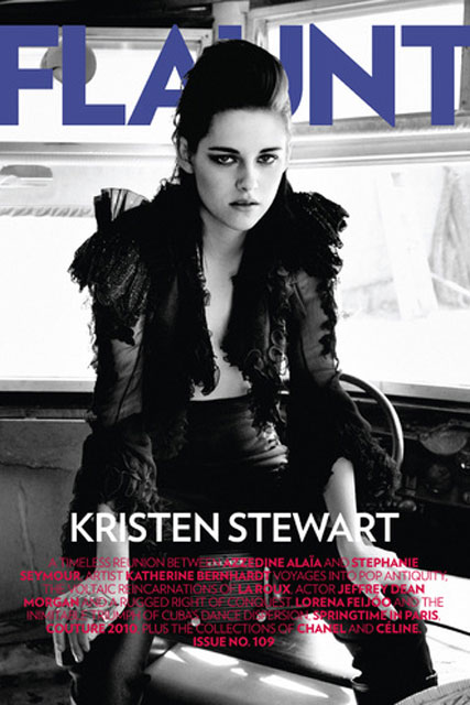 Kristen Stewart - Kristen Stewart?s racy new cover shoot - Flaunt - Twilight - Celebrity News - Marie Claire