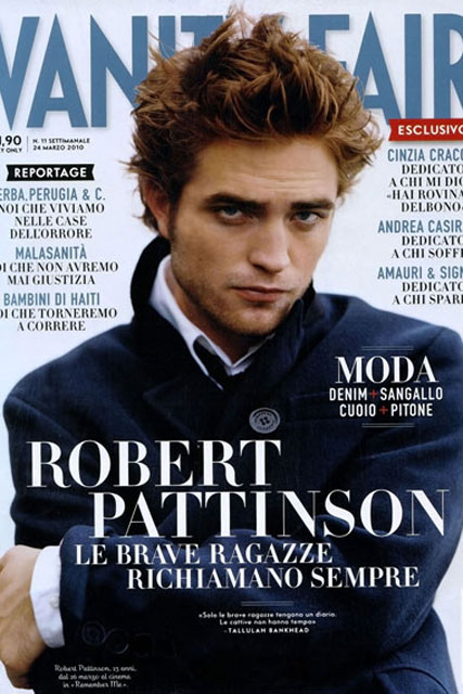 Robert Pattinson - Twilight - Robert Pattinson Vanity Fair - Celebrity News - Marie Claire