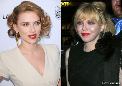 Scarlett Johansson to play Courtney Love - Robert Pattinson to play Kurt Cobain - Marie Claire