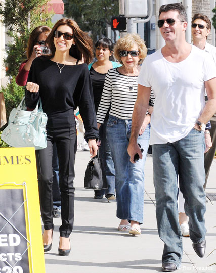 Simon Cowell and Mezhgan Hussainy - Celebrity News - Marie Claire