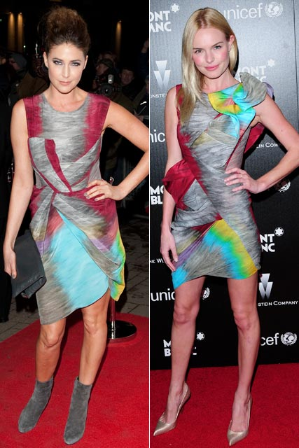 Lisa Snowdon and Kate Bosworth - Who wore it best? - Peter Pilotto dress
