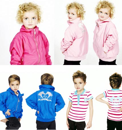 Katie Price's children - Princess and Junior - model her clothing collection
