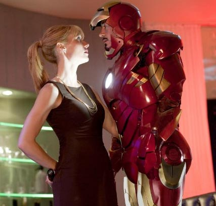 Gwyneth Paltrow in Iron Man 2, as she reveals her workout secrets