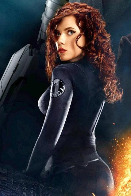 Scarlett Johansson wearing a catsuit in Iron Man 2, as she reveals her workout secrets