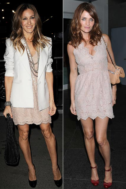 Sarah Jessica Parker and Helena Christensen - Who wore it best?