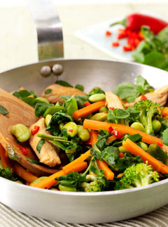 Chicken & Watercress stir fry - Recipes - Marie Claire