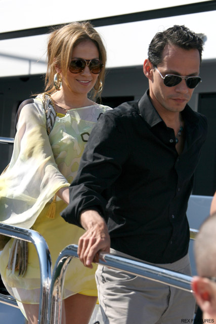 Jennifer Lopez and Marc Anthony - Naomi Campbell's star-studded 40th birthday bash - Cannes - Celebrity News - Marie Claire