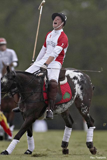 Prince Harry - Prince Harry in tears after his favourite pony collapses at polo - Prince William - Celebrity News - Marie Claire