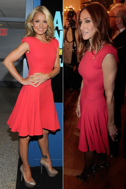 Sarah Jessica Parker and Kelly Ripa wearing Victoria Beckham dresses
