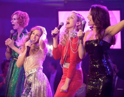 Sex and the City, Miranda, Carrie, Samantha and Charlotte doing Karaoke
