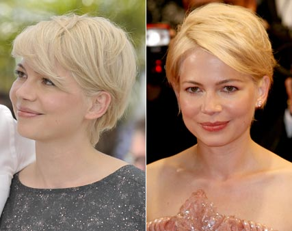 Michelle Williams shows off new platinum crop at the Cannes Film Festival 2010