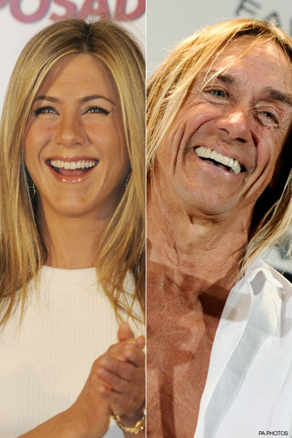 Jennifer Aniston and Iggy Po - George Clooney's girlfriend denies Jennifer Aniston Twitter insult - Celebrity News - Marie Claire