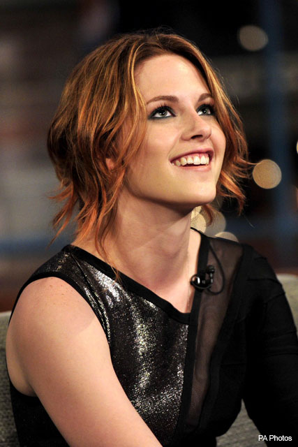 Love or hate? Kristen Stewart debuts stylish new 'do - Twilight, Eclipse, K-Stew, haircut, hairstyle, auburn, colour, new, pictures, see, pics, hair, Marie Claire