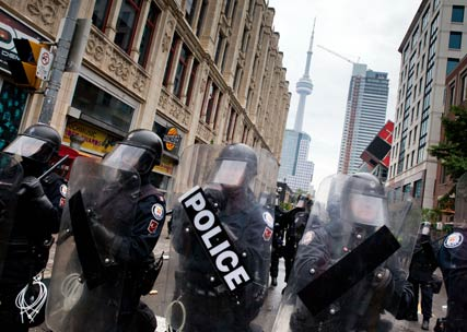 Toronto riots - World News - Marie Claire