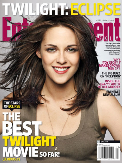 It's a Twilight battle of the sexes! Kristen Stewart, Robert Pattinson and Taylor Lautner get seperate covers - Entertainment Weekly, magazine, pics, see, cover, Eclipse, Marie Claire