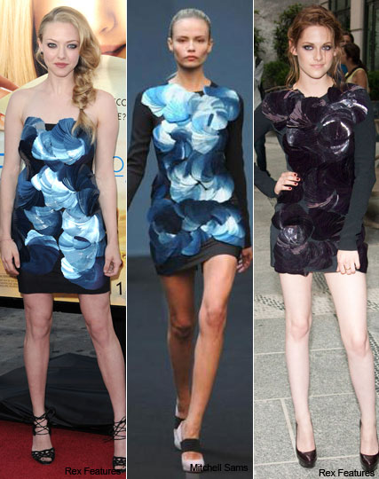 Which dress is best? Kristen Stewart vs Amanda Seyfried - Fashion, style. celebrity, K-Stew, Twilight, Eclipse, Marie Claire