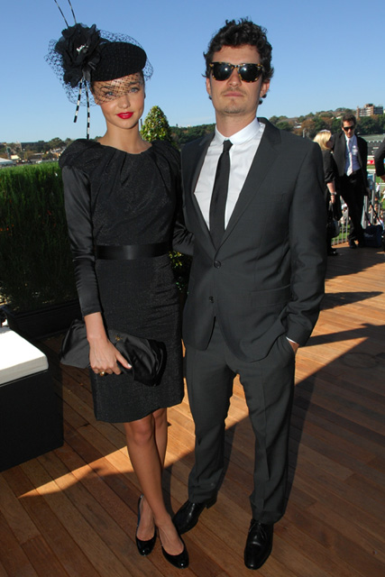 Miranda Kerr and Orlando Bloom at the Emirates Doncaster Day Horse Racing, Sydney