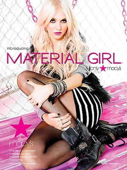 Taylor Momsen fronts Lourdes & Madonna's clothing collection - Material Girl, Gossip Girl, Celebrity, Fashion, Marie Claire
