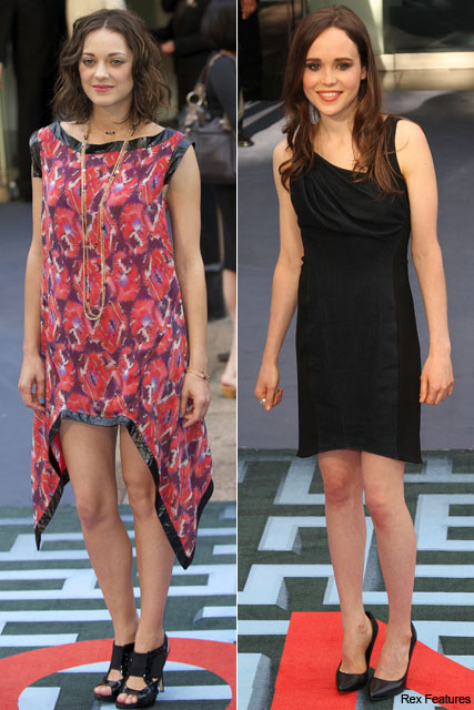 Marion Cotillard, Ellen Page - Inception London premiere, Marie Claire