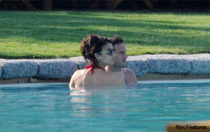 Christine Bleakley and Frank Lampard on their first holiday as a couple - Sardinia, Jamie, Louise Redknapp, England, public, kissing, engaged, see, pics, pictures, news, celebrity, Marie Claire