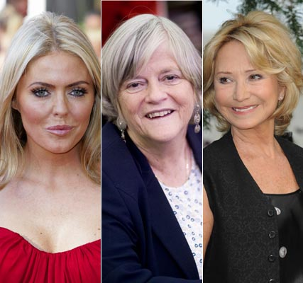 Patsy Kensit, Ann Widdecombe and Felicity Kendall - Strictly Come Dancing line-up 2010