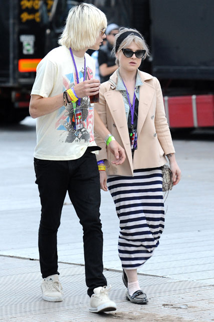 Kelly Osbourne and Luke Worrell - Stars at Wireless Festival 2010 - London, Celebrity, Fashion, Marie Claire