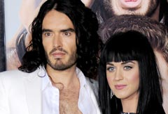 Russell Brand and Katy Perry at the Get Him to the Greek premiere