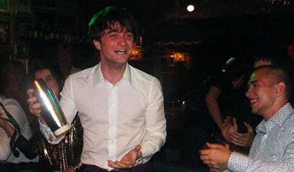 Daniel Radcliffe parties for his 21st birthday