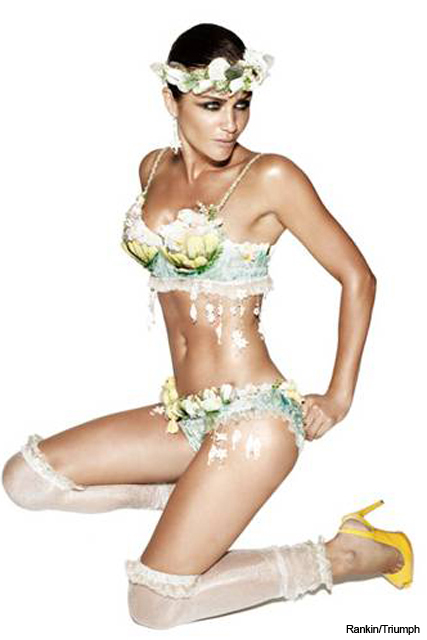 SEE Helena Christensen modelling for Triumph lingerie competition - Fashion news, design, designer, Rankin, panel, choose, news, Marie Claire