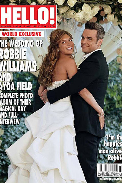 Robbie Williams and Ayda Field - FIRST LOOK! Robbie and Ayda?s gorgeous wedding snap - Robbie Williams wedding - Ayda Field - Take That - Robbie Williams - Celebrity News - Marie Claire