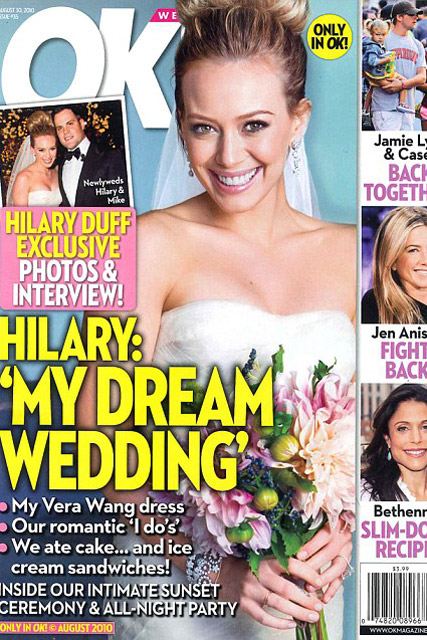 Hilary Duff - FIRST LOOK! Hilary Duff's official wedding snaps  - Hilary Duff Wedding Photos - Celebrity News - Marie Claire
