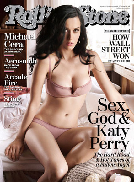 Katy Perry strips off to flaunt hot new bod for Rolling Stone - Rolling Stone magazine, cover, see, pics, pictures, Russell Brand, Marie Claire, celebrity, news