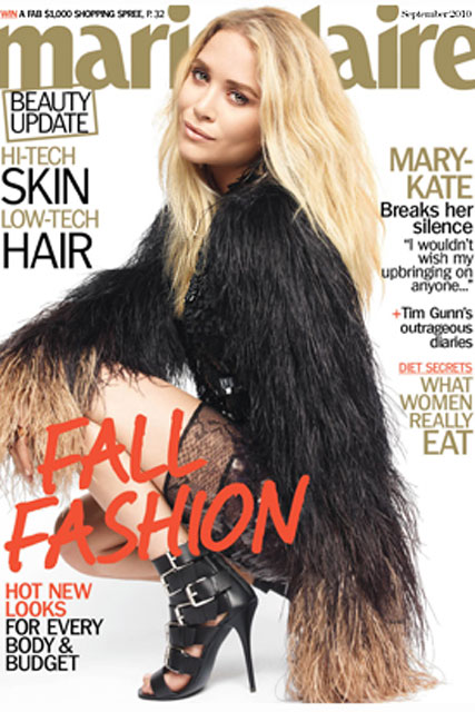 Mary-Kate tells Marie Claire: