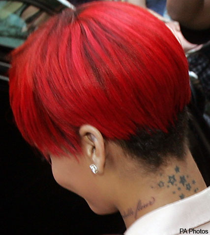 Rihanna - Rihanna debuts new tattoo - Celebrity tattoos - Tattoos - Celebrity News - Marie Claire