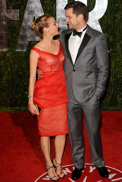 Diane Kruger And Joshua Jackson At The Vanity Fair Oscar After Party
