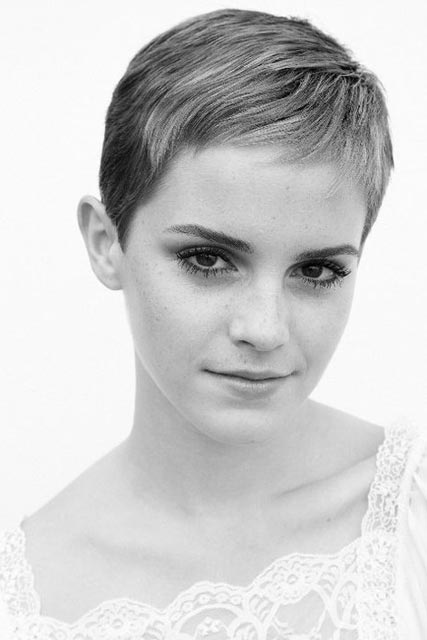 Emma Watson shows off new short pixie haircut