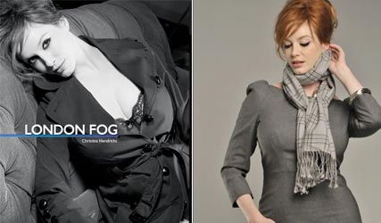 Christina Hendricks for London Fog