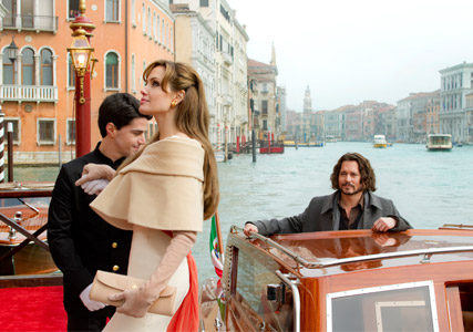 Angelina Jolie and Johnny Depp - FIRST LOOK! Angelina Jolie in The Tourist - The Tourist - Johnny Depp - Celebrity News - Marie Claire