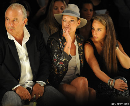 Philip Green, Kate Moss and Chloe Green - Kate Moss to split with Topshop - Fashion - Celebrity - Marie Claire