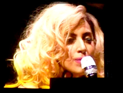 Lady Gaga - FIRST LOOK! Lady Gaga debuts new song on stage - Living on the Radio - Lady Gaga new song - Celebrity News - Marie Claire