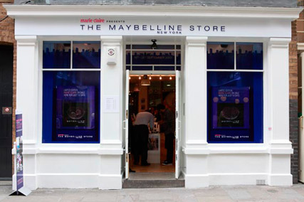 Marie Claire and Maybelline pop-up shop