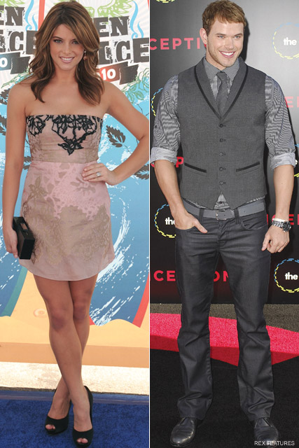 Ashley Greene and Kellan Lutz - Twilight trio R-Patz, K-Stew and Taylor Lautner to miss VMAs - Breaking Dawn - Robert Pattinson and Kristen Stewart - MTV VMA Awards - Celebrity News - Marie Claire