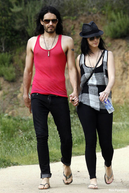 Russell Brand & Katy Perry - Russell Brand bachelor party - Katy Perry & Russell Brand - Celebrity News - Marie Claire