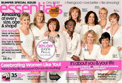 Essentials cover featuring real women rather than models