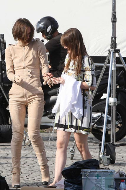 Keira Knightley on the set of a Chanel ad campaign in Paris