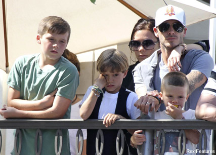 David and Victoria Beckahm - David Beckham gushes about