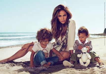 Jennifer Lopez and twins Max and Emme star in Gucci campaign