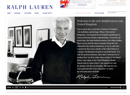 Ralph Lauren launches first UK website - Fashion Features news, Marie Claire
