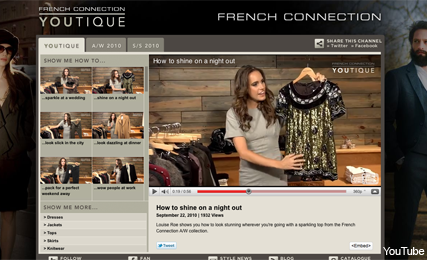 French Connection lauches YouTube boutique - YouTique, fashion news, Louise Roe, Marie Claire