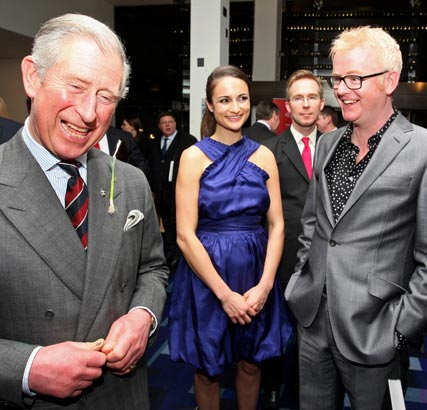 Chris Evans, Natasha Shishmanian and Prince Charles at the The Prince's Trust Celebrate Success Awards